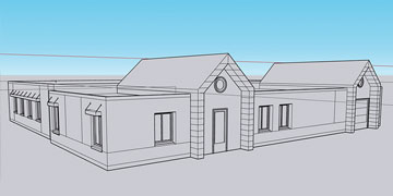 schematic drawing of LIFE Home building